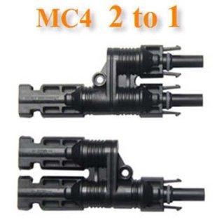 ข้อต่อสายไฟ MC4 ต่อขนาน 2เส้น