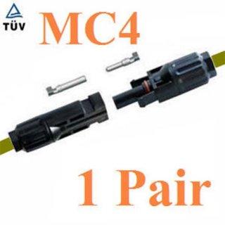 ข้อต่อสายไฟ MC4 1 คู่ สำหรับสายไฟ PV1-F