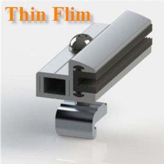 ตัวจับยึดแผงสุดท้าย Thin Film หนา6 mm