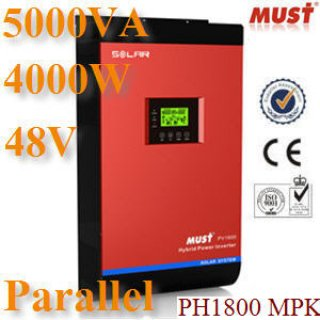 ไฮบริดโซล่า อินเวอร์เตอร์ 5000VA 48V MPPT Parall