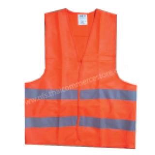 เสื้อกั๊กจราจรสีส้ม รุ่น NFS