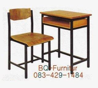 ชุดโต๊ะนักเรียน แบบมีช่องเก็บของ