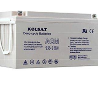 แบตเตอรี่ KOLSAT FRONT 12V150ah GEL Deep cycle
