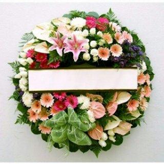 พวงหรีดดอกไม้ประดิษฐ์