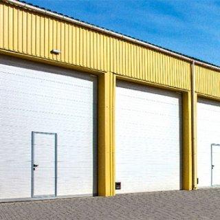 ประตูโรงงาน Industrial Overhead Sectional Doors