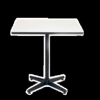 โต๊ะคาเฟ่ หน้าโฟเมก้าขาว ขาเหล็กเหลี่ยม