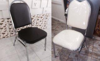 เก้าอี้หัวโค้งเหล็กกลม