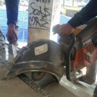 งานตัดคอนกรีตด้วย Hand saw