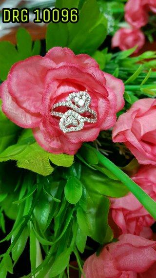 แหวนเพชรประกบหัวใจไขว้ DRG 10096