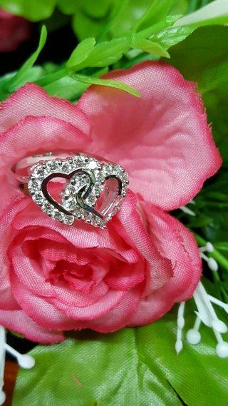 แหวนเพชรหัวใจคู่ DRG 10150