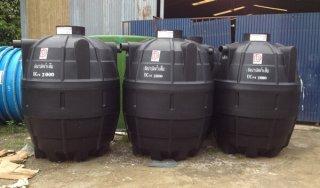 ถังบำบัดน้ำเสียพลาสติก PE รุ่น DCPE-2000