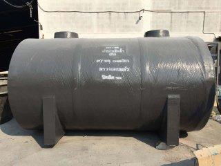 ถังบำบัดน้ำเสียไฟเบอร์กลาส ทรงแคปซูล 12,000 ลิตร