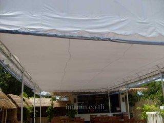 เต็นท์ทรงโค้งสีขาว ขนาด 4 x 8 เมตร