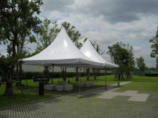 เต็นท์ทรงฟูจิสีขาว ขนาด 3 x 3 เมตร