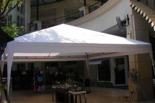เต็นท์ทรงปีระมิดสีขาว ขนาด 5 x 5 เมตร