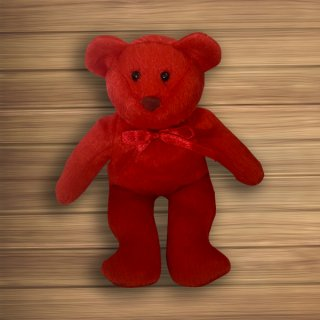 ตุ๊กตาหมีสีแดง