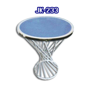 โต๊ะสแตนเลส ทรงวงกลม รหัส JK-233