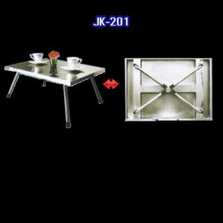 โต๊ะสแตนเลส พับได้ รหัส JK-201