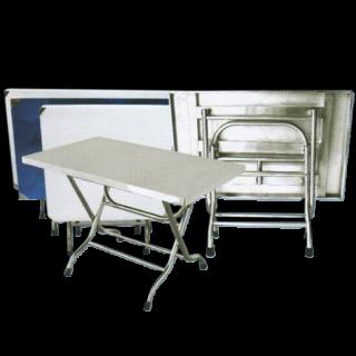 โต๊ะสแตนเลส พับได้ รหัส JK-228