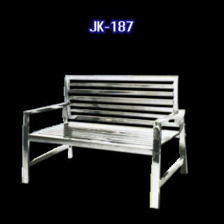 เก้าอี้สแตนเลสยาว รหัส JK-187