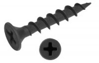 สกรูเกลียวปล่อยชุปดำหัวเตเปอร์ ขนาด 3 5 x 25 mm