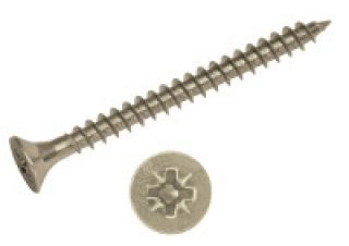 สกรูเกลียวปล่อย ทองเหลืองหัวโพซี่ ขนาด 5 0 x 50 mm