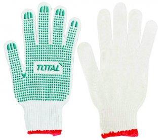 ถุงมือคอตต้อนกันลื่น 6 ขีด TSP11102