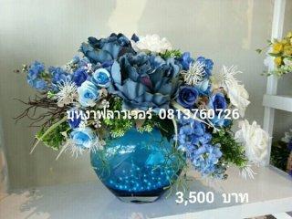 แจกันดอกไม้ประดิษฐ์(ดอกไม้ปลอม)จัดส่งทั่วประเทศ