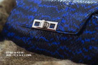LEATHE PURSE BLUE