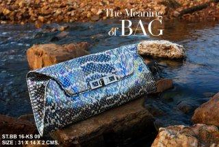 Stingray ray clutch bag