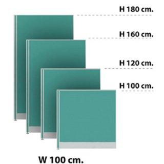พาร์ทิชั่นแบบทึบ 100x120 ซม. สีเขียวอ่อน