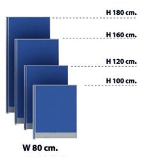 พาร์ทิชั่นแบบทึบ 80x120 สีน้ำเงิน