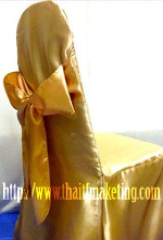 ผ้าคลุมเก้าอี้โบว์ทอง