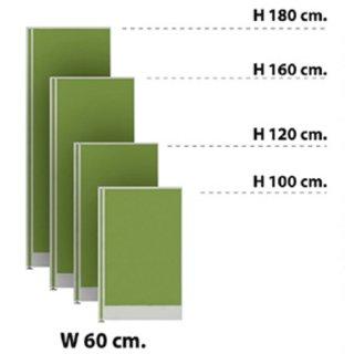 พาร์ทิชั่นแบบทึบ กว้าง 60 ซม. สีเขียวตอง