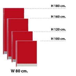 พาร์ทิชั่นแบบทึบ กว้าง 80 ซม. สีแดงสด
