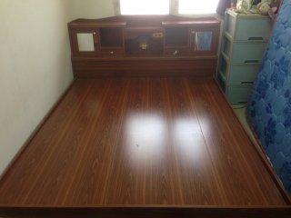เตียงไม้สีสัก 5 ฟุต
