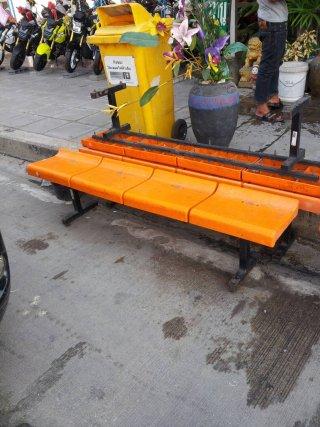 เก้าอี้แถว สีส้ม