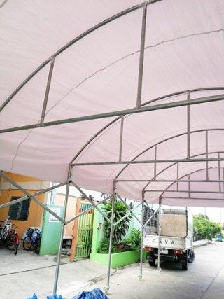 เต็นท์โค้งพับได้ 5x12 เมตร