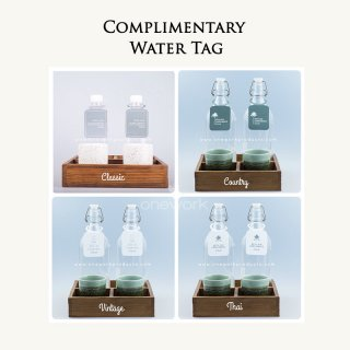 Complimentary Water Tag