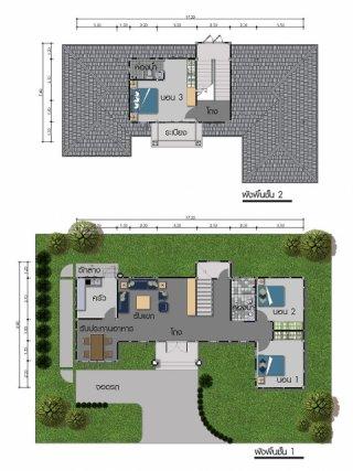 แบบบ้านสองชั้น GHP98