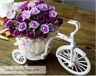 จักรยานดอกไม้ กุหลาบม่วง