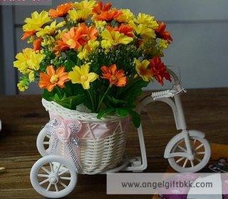 จักรยานดอกไม้ เดซี่เหลือง ส้ม