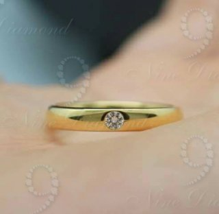 แหวนปอกมีด เพชรเม็ดเดียว