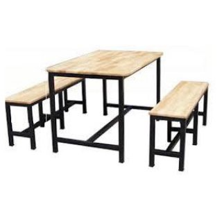 โต๊ะโรงอาหาร ไม้ยาง