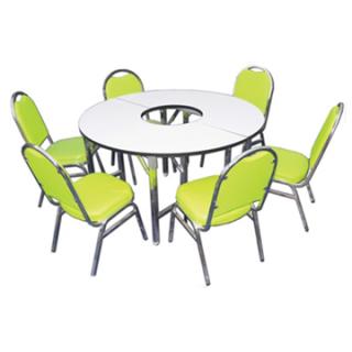 โต๊ะประชุมวงรีพับได้ 10 ที่นั่ง