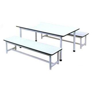 โต๊ะอนุบาลหน้าขาว ม้านั่งยาว 2 ตัว
