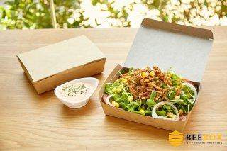 กล่องอาหารกระดาษคราฟท์ กว้าง 10 cm.