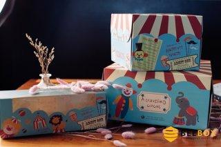 กล่องใส่คุ้กกี้ บราวนี่ พร้อมถาด Birthday Party