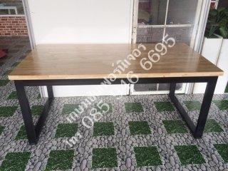 โต๊ะไม้ยางพารา Top หนา 35mm.