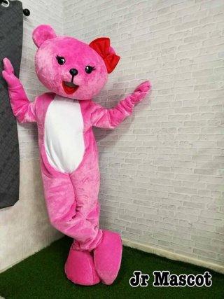 มาสคอตหมีสีชมพู